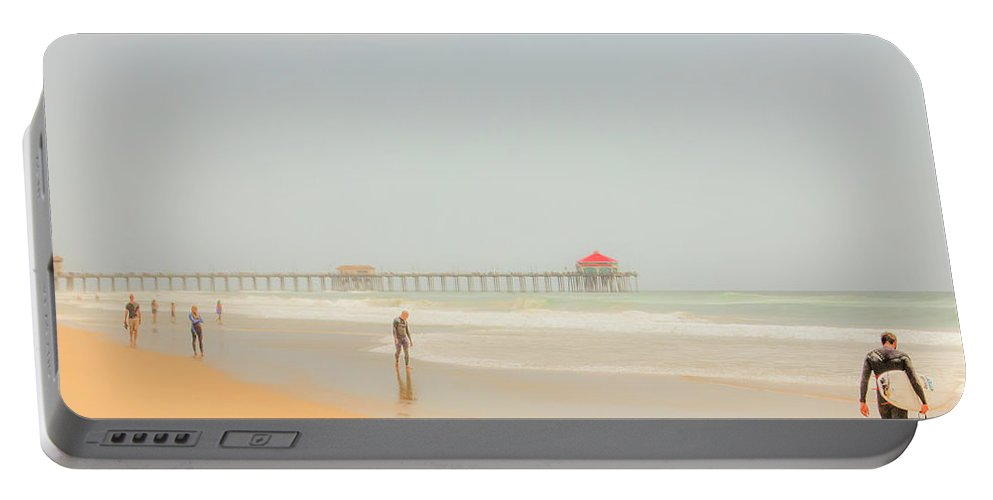 2015 Portable Battery Charger featuring the photograph Surf's Up by Amer Khwaja