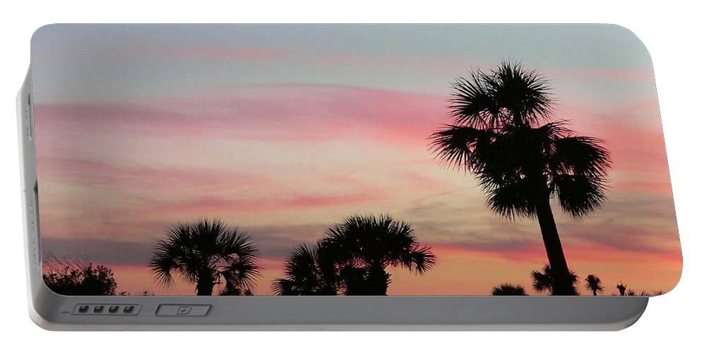 Sunset Portable Battery Charger featuring the photograph Surfside Sunset by Al Powell Photography USA