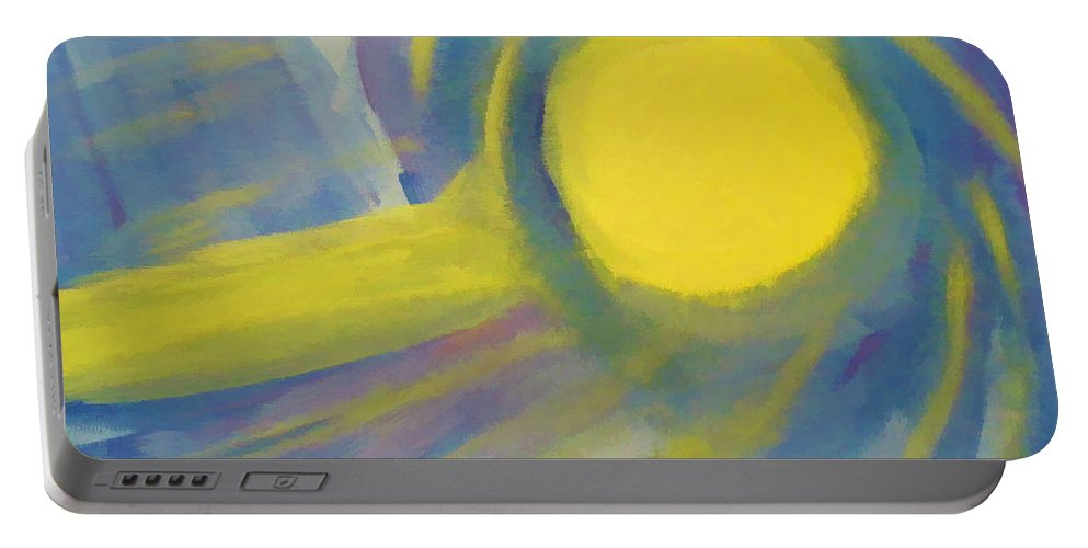 Painting Portable Battery Charger featuring the painting Surreal Sunset by D Hackett