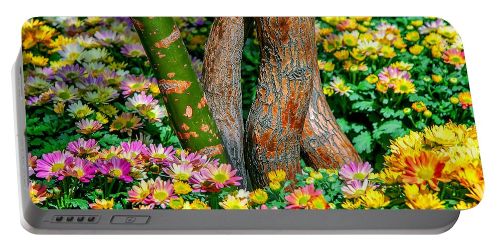 Spring Flowers Portable Battery Charger featuring the photograph Surrounded by Az Jackson