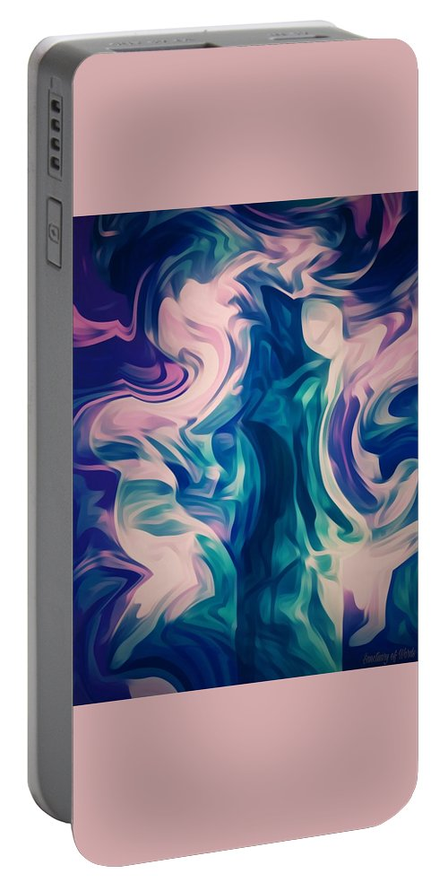 Spiritual Portable Battery Charger featuring the digital art Surrounded By An Aura Of Love by Sanctuary of Words Gallery