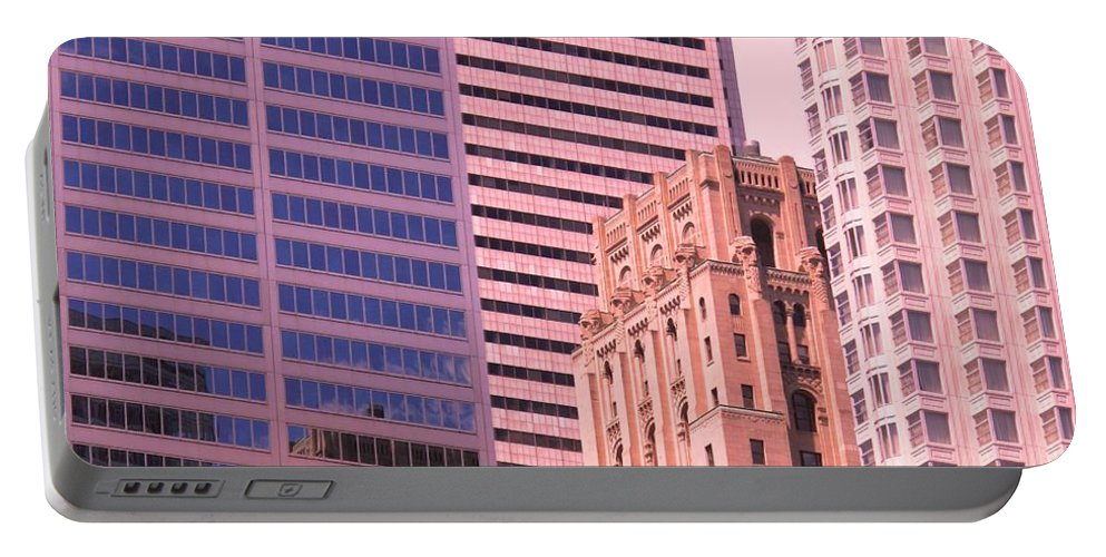 Office Buildings Portable Battery Charger featuring the photograph Surrounded by Ian MacDonald