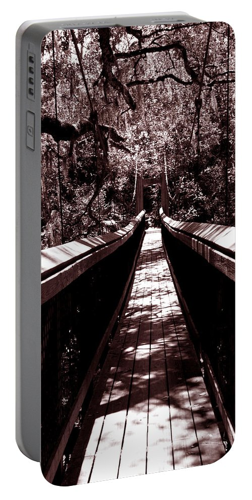 Suspension Portable Battery Charger featuring the photograph Suspension Bridge by Bob Johnson