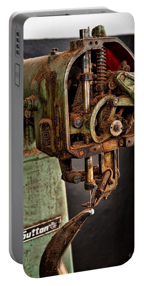 Mechanical Portable Battery Charger featuring the photograph Suttan Sewing Machine by Christopher Holmes
