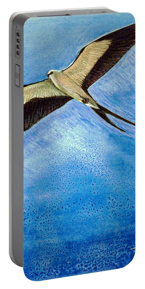 Wildlife Portable Battery Charger featuring the mixed media Swallowtail Sighting by Suzanne McKee