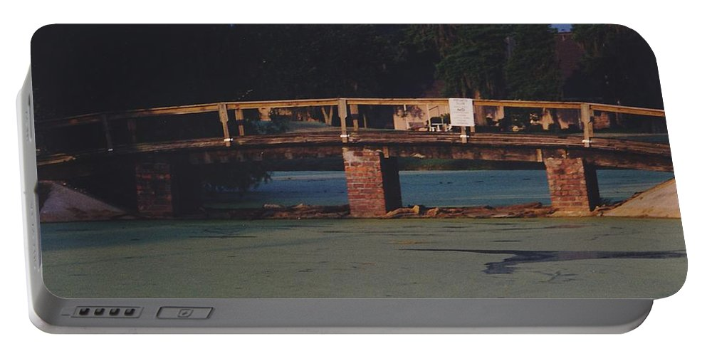 Bridge Portable Battery Charger featuring the photograph Swamp Bridge by Michelle Powell