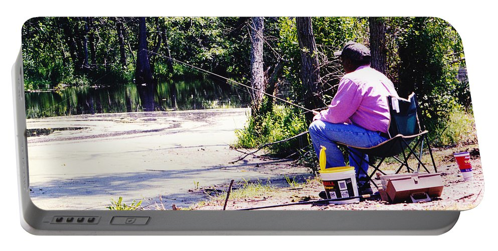 Swamps Portable Battery Charger featuring the photograph Swamp Fishing by Michelle Powell