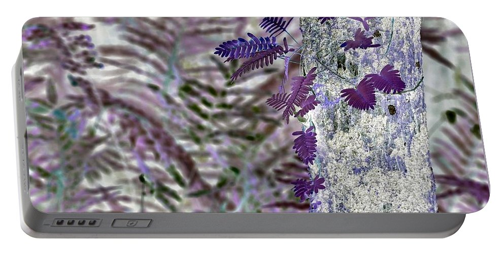 Ferns Portable Battery Charger featuring the digital art Ferns Of A Different Color by John Hintz