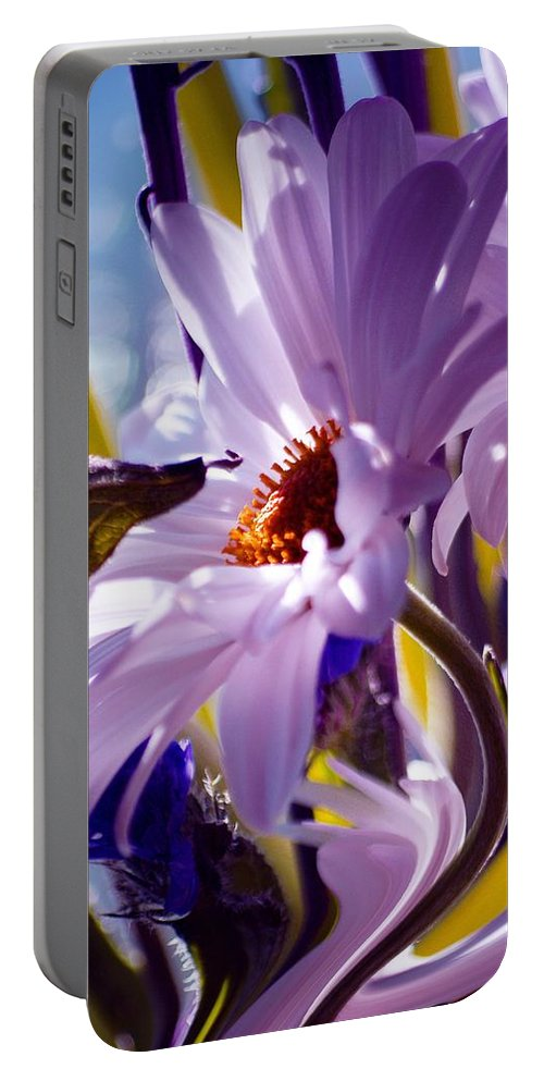 Flowers Portable Battery Charger featuring the photograph Swan... by Arthur Miller