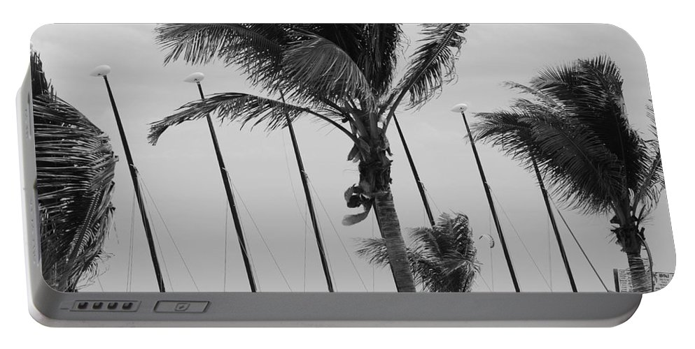 Black And White Portable Battery Charger featuring the photograph Sway by Rob Hans