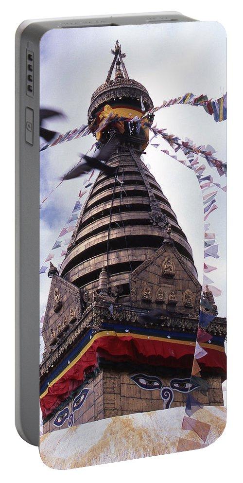 Swayambhunath Portable Battery Charger featuring the photograph Swayambhunath by Patrick Klauss