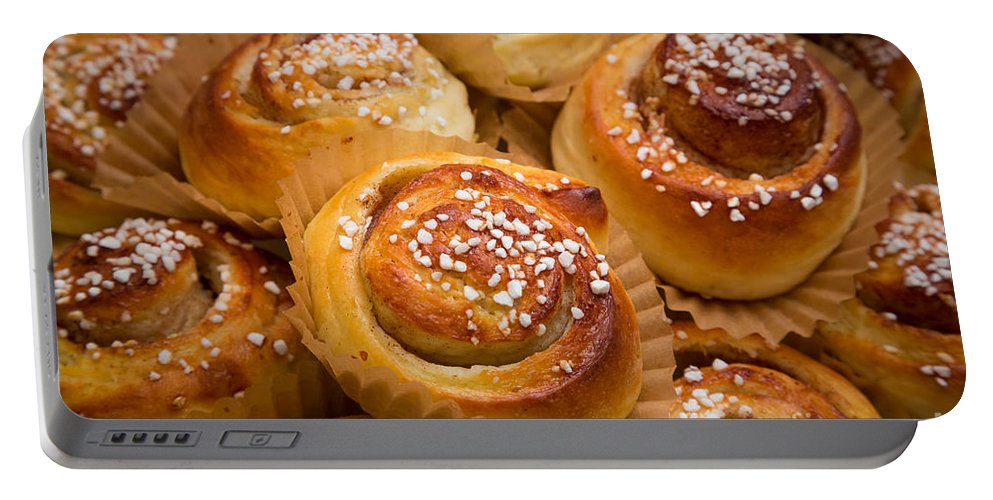 Europe Portable Battery Charger featuring the photograph Swedish Cinnamon Rolls by Inge Johnsson