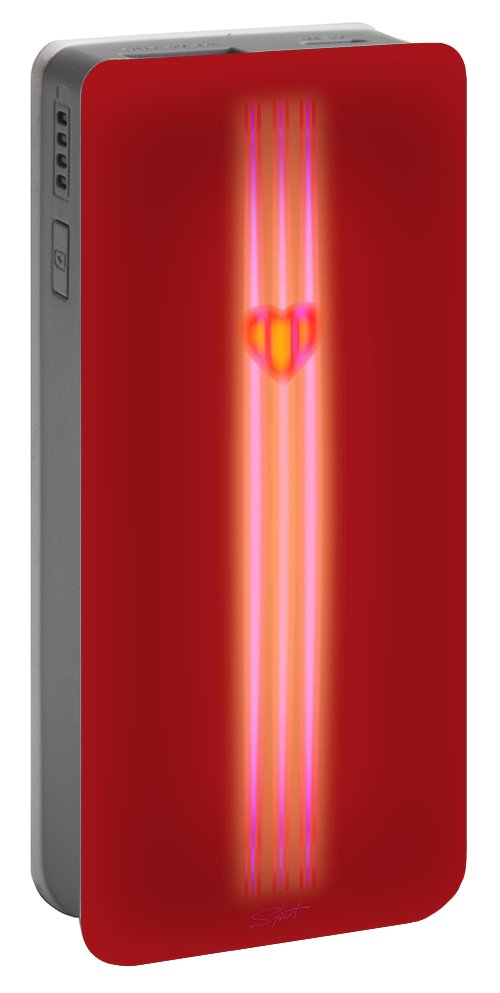 Slit Portable Battery Charger featuring the painting Sweet Heart by Charles Stuart