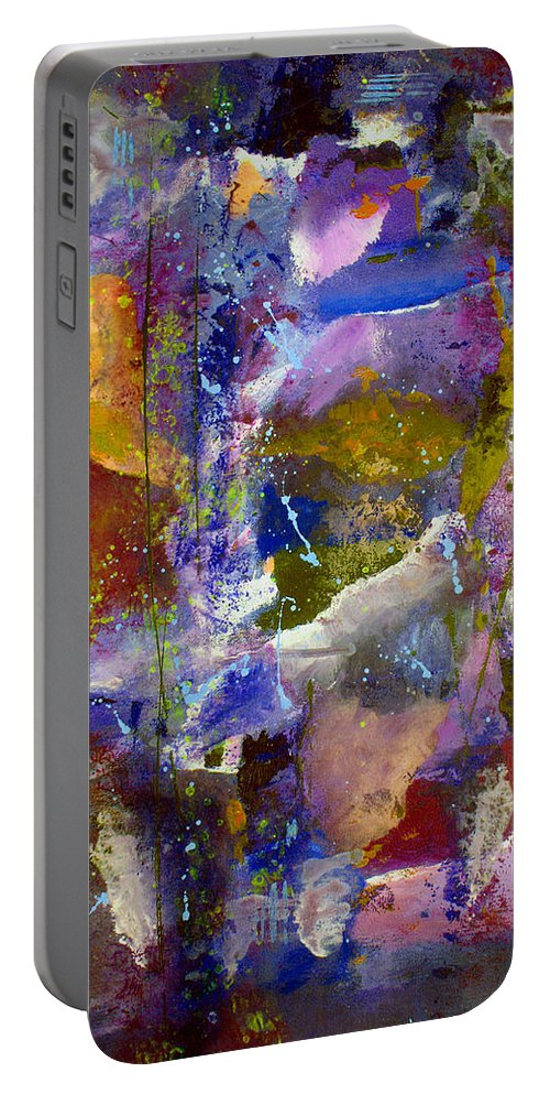 Abstract Portable Battery Charger featuring the painting Sweet Inspiration by Ruth Palmer