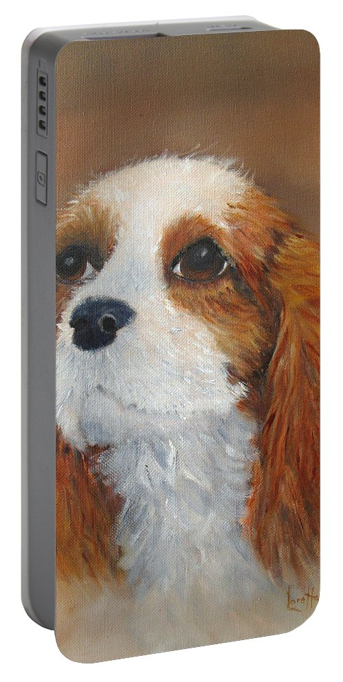 Pet Portable Battery Charger featuring the painting Sweet Maggie by Loretta Luglio