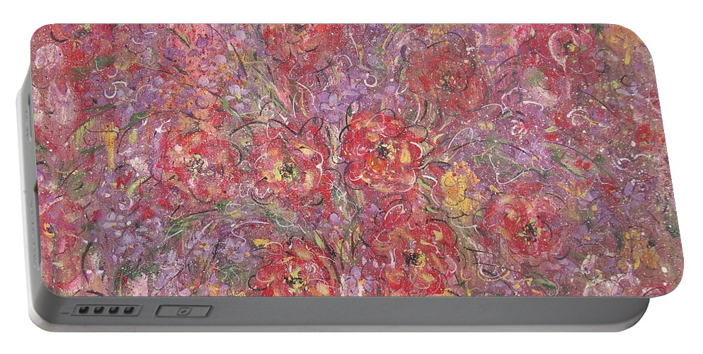 Still Life Portable Battery Charger featuring the painting Sweet Memories by Natalie Holland