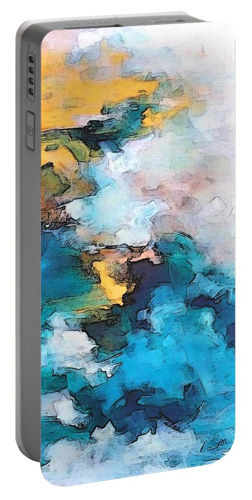 Abstract Portable Battery Charger featuring the digital art Sweet Memory Shades by Linda Mears