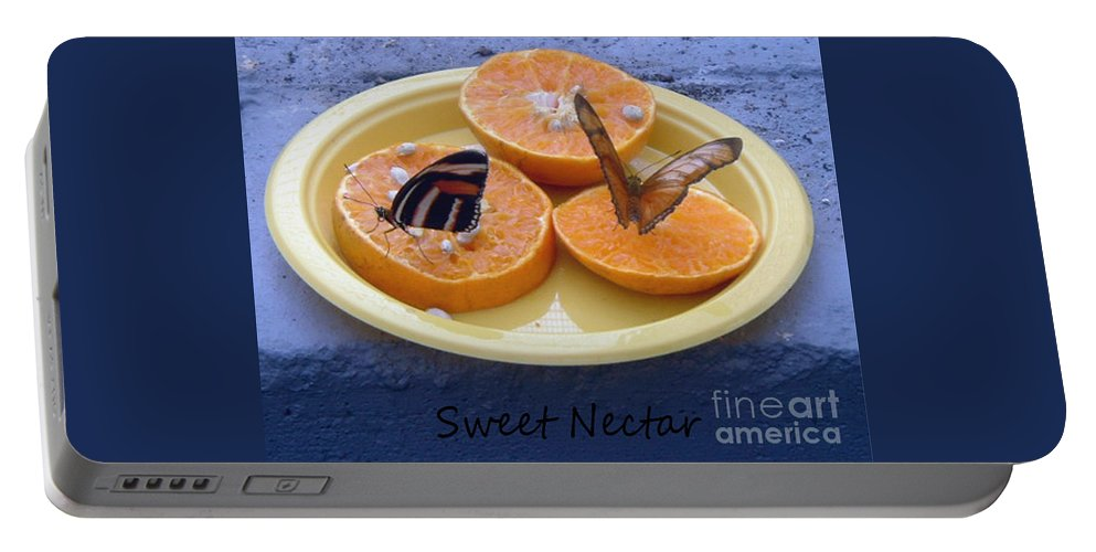 Sweet Nectar Portable Battery Charger featuring the photograph Sweet Nectar by Barbara Griffin
