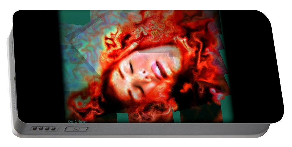 Abstract Portable Battery Charger featuring the photograph Sweet Slumber by Chris Crowley