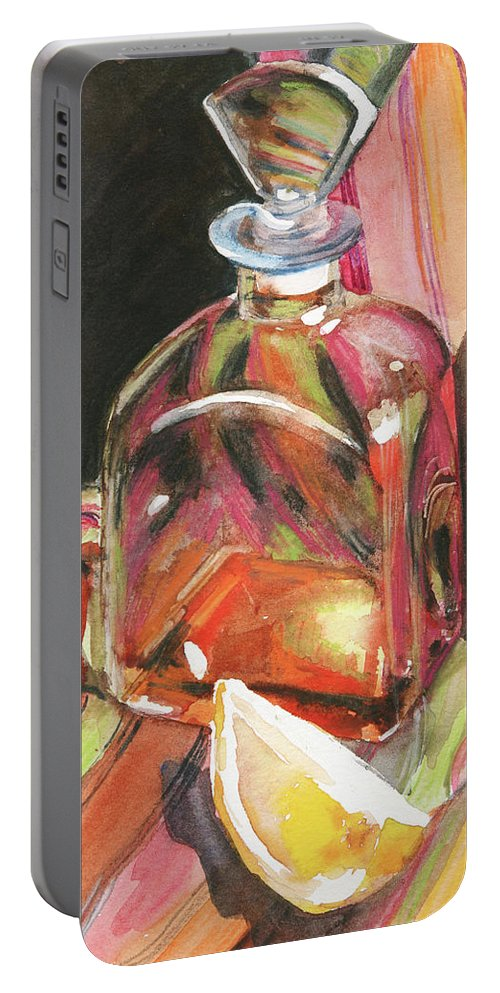 Glass Portable Battery Charger featuring the painting Sweetness by Trina Teele