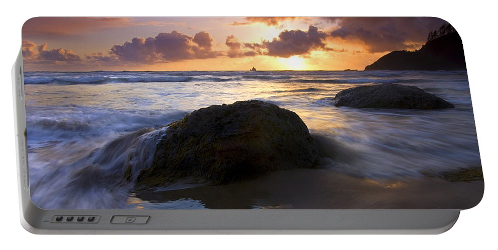 Sunset Portable Battery Charger featuring the photograph Swept Away by Mike Dawson