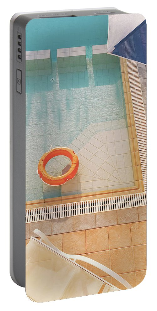 Water Portable Battery Charger featuring the photograph Swimming Pool by Cassia Beck