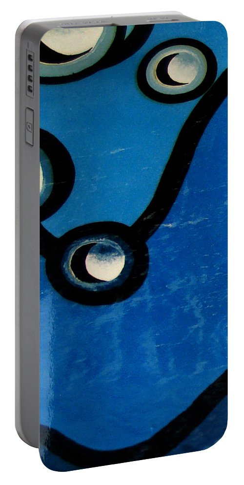 Swimming Pool Mural Portable Battery Charger featuring the painting Swimming Pool Mural Detail 1 by Rachel Christine Nowicki