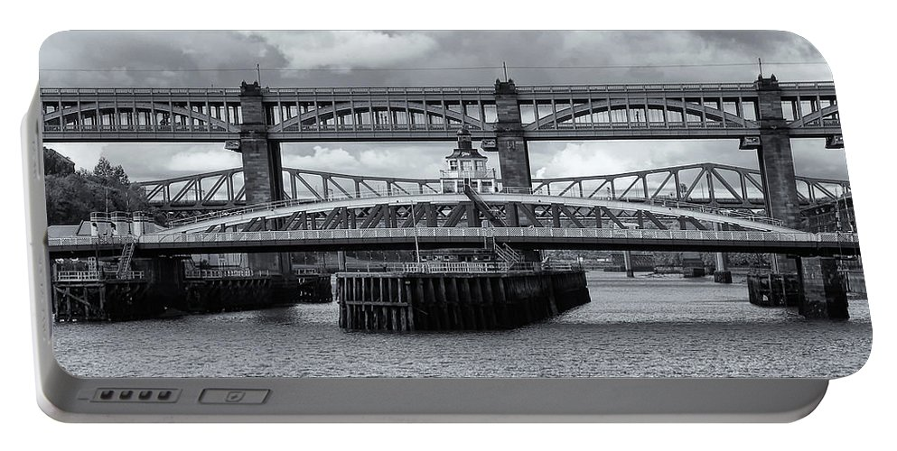 Swing Portable Battery Charger featuring the photograph Swing Bridge by David Pringle
