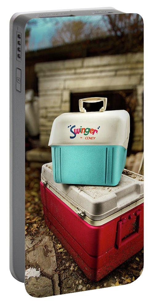 Painted Portable Battery Charger featuring the photograph Swinger Cooler by Yo Pedro