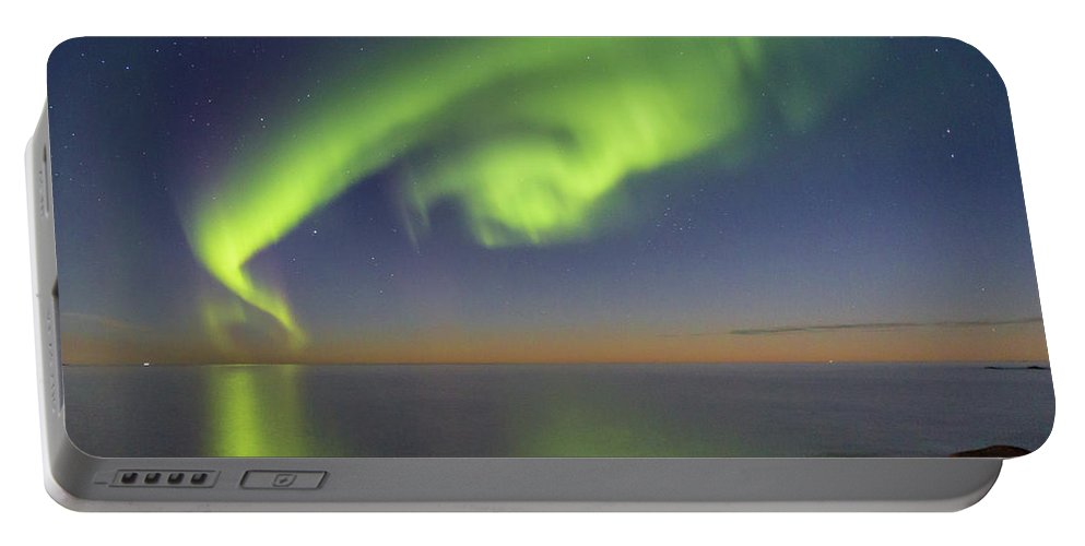Aurora Borealis Portable Battery Charger featuring the photograph Swirl by Alex Conu