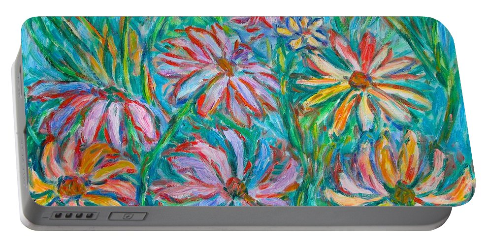 Impressionist Portable Battery Charger featuring the painting Swirling Color by Kendall Kessler
