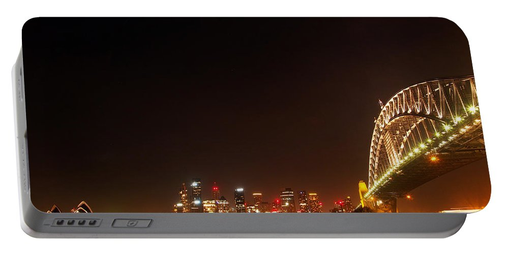 Sydney Portable Battery Charger featuring the photograph Sydney By Night by Kaleidoscopik Photography