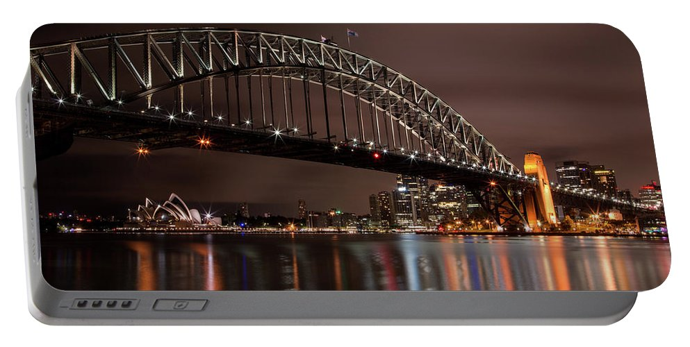 Sydney Portable Battery Charger featuring the photograph Sydney Harbor At Night by John Daly