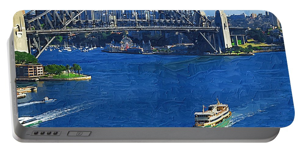 Sydney Portable Battery Charger featuring the photograph Sydney Harbor Bridge by Tom Reynen
