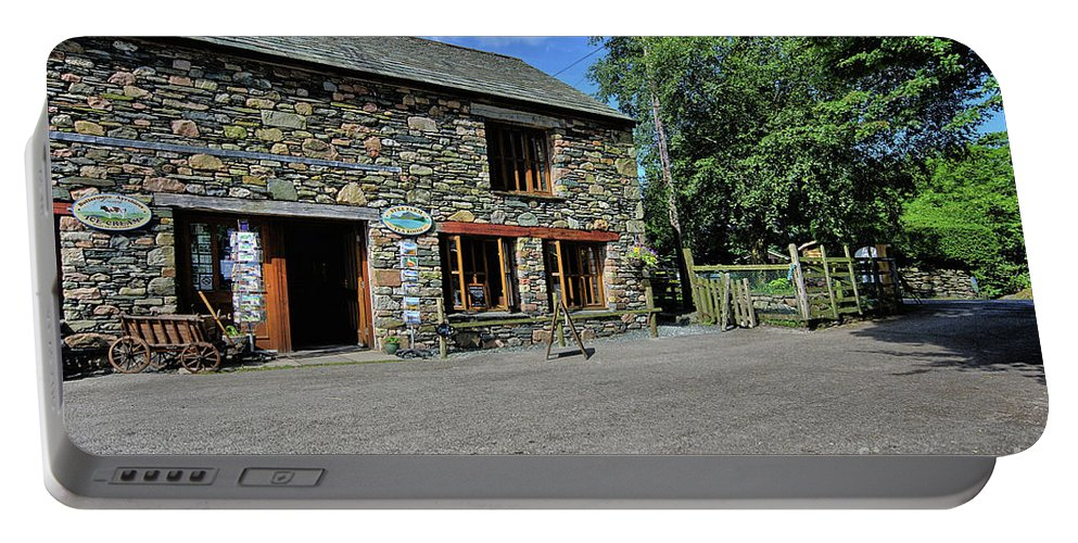Buttermere Portable Battery Charger featuring the photograph Syke Farm Tea Room by Smart Aviation