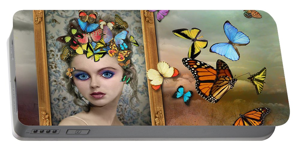 Girl Portable Battery Charger featuring the photograph Sylph II by Tammy Wetzel