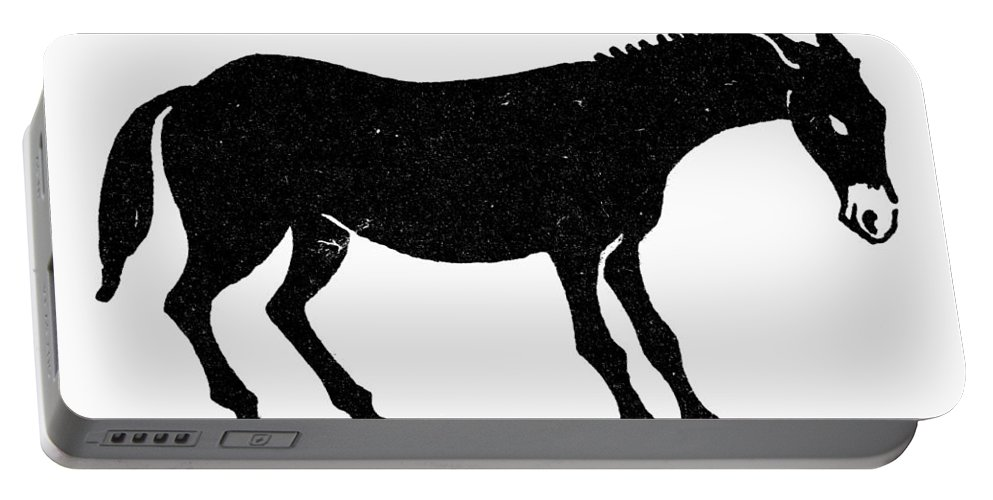 Ass Portable Battery Charger featuring the photograph Symbol: Mule by Granger