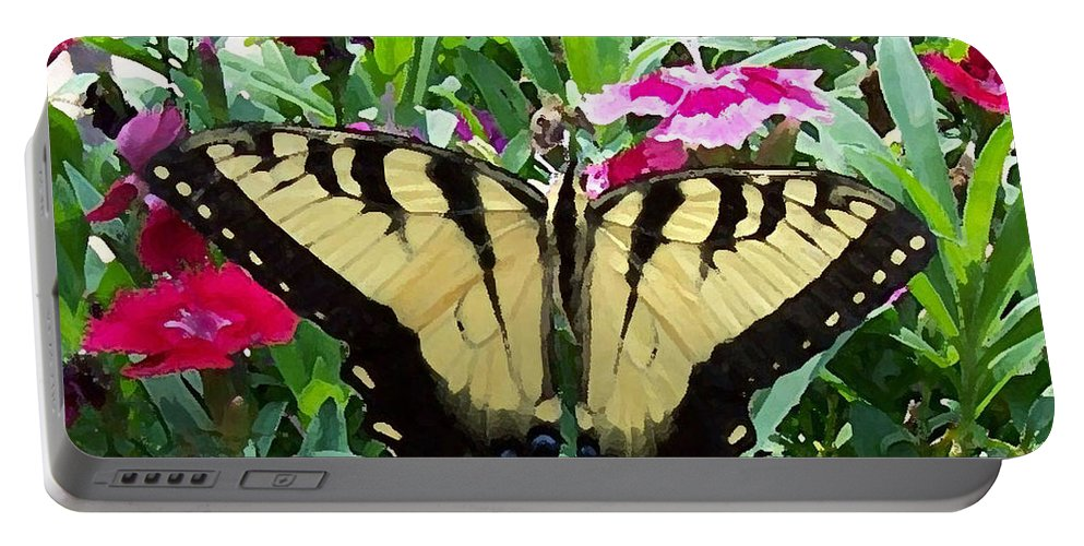 Swallowtail Portable Battery Charger featuring the photograph Symmetry by Sandi OReilly