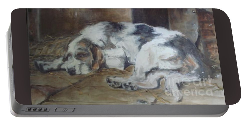 Realistic Portable Battery Charger featuring the painting Sympothy 2 by Rushan Ruzaick