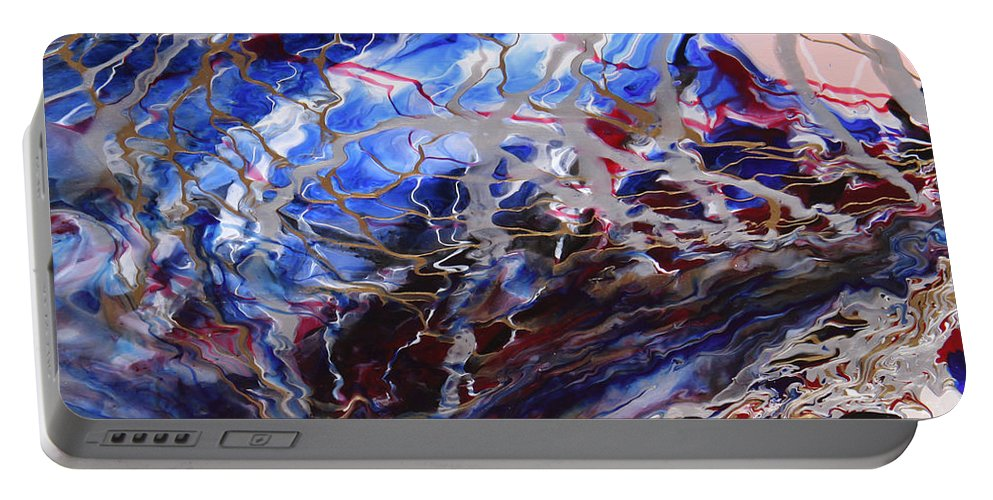 Fusionart Portable Battery Charger featuring the painting Synapse by Ralph White