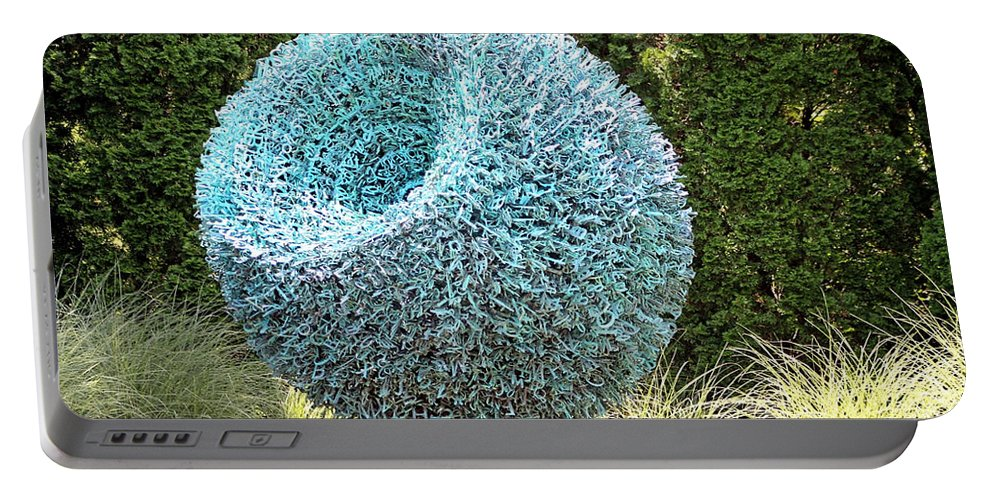 Sculpture Portable Battery Charger featuring the photograph Syntax Sculpture by Gayle Miller