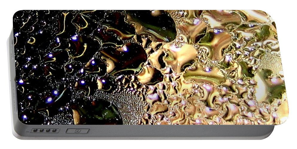 Abstract Portable Battery Charger featuring the digital art Synthesis by Will Borden