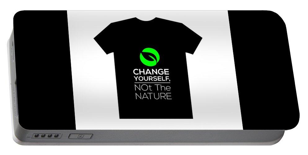 T-shirt Portable Battery Charger featuring the digital art T-shirt by Umar Aziz