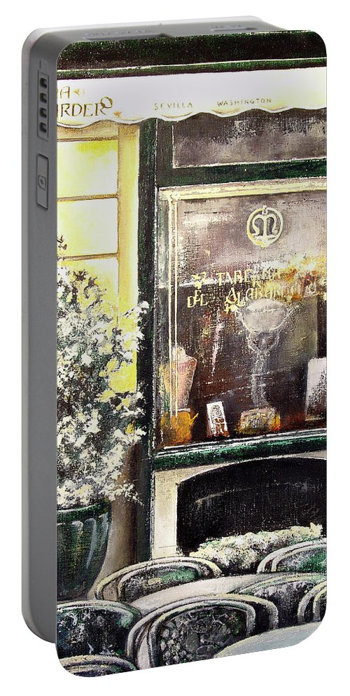 Old Portable Battery Charger featuring the painting Taberna Del Alabardero-madrid by Tomas Castano