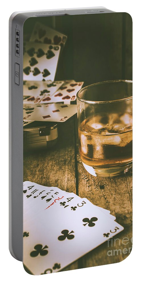 West Portable Battery Charger featuring the photograph Table Games And The Wild West Saloon by Jorgo Photography - Wall Art Gallery