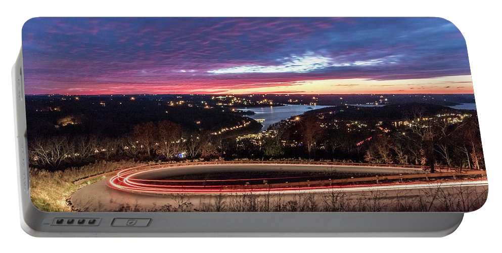 Table Rock Lake Portable Battery Charger featuring the photograph Table Rock Lake Night Shot 2 by Steven Jones