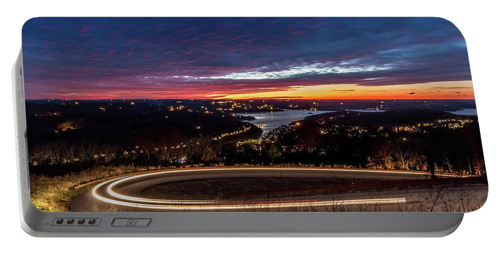 Table Rock Lake Portable Battery Charger featuring the photograph Table Rock Lake Night Shot by Steven Jones