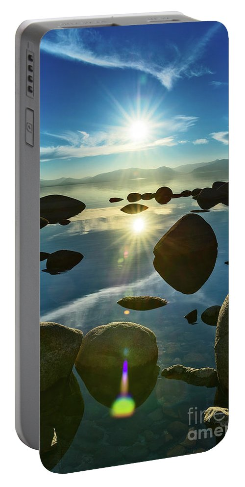 Lake Tahoe Portable Battery Charger featuring the photograph Tahoe Star by Jamie Pham