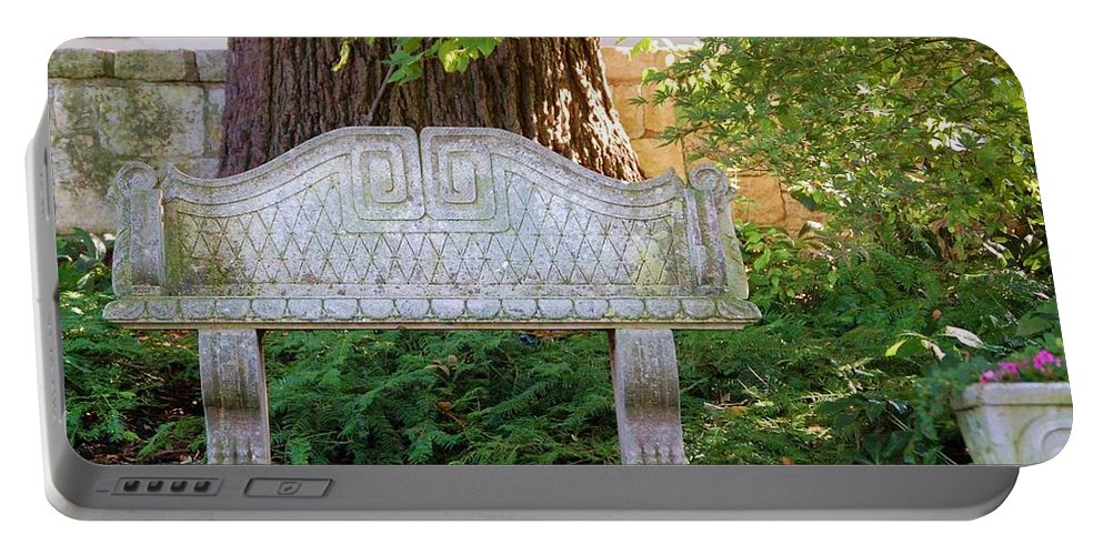 Bench Portable Battery Charger featuring the photograph Take A Break by Debbi Granruth