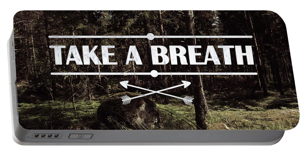 Nature Portable Battery Charger featuring the photograph Take A Breath by Nicklas Gustafsson